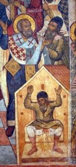 Santa Slapping Arius and Arius' Death